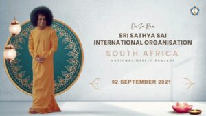 Read more about the article Sri Sathya Sai International Organisation South Africa | Weekly Bhajans | 2 September 2021